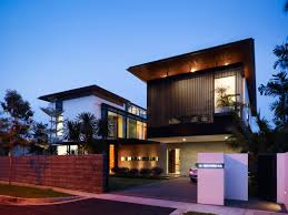 awesome brown glass unique design modern tropical house