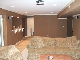 Unfinished Basement Ceiling by Fantastic Finishing Basement Walls Ideas With Wall Unfinished