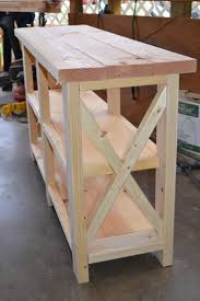 ana white console table ana white x console table diy projects