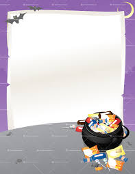 halloween background with purple halloween flyer u2014 vector illustration of an announcement or