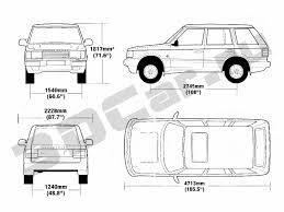 range rover drawing чертеж land rover range rover 1998 3dcar ru 3d модели