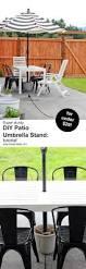 patio umbrella stand side table diy patio umbrella stand tutorial
