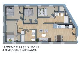 Floor Plans For Real Estate Home Olympia Place