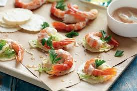 canapes with prawns prawn cocktail canapés recipe eat your books
