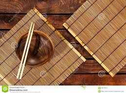 Wooden Table Top View Bamboo Napkin On Wooden Table Top View Stock Photo Image 60538179