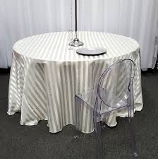 Fitted Round Tablecloth Wedding Satin Striped Tablecloths