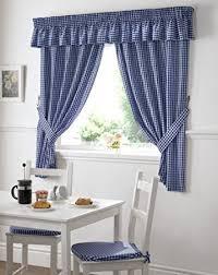 vorhänge für küche de gingham kariert blau weiß küche gardinen vorhänge w46 x