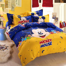 Mickey Mouse Queen Size Bedding Bedroom Exciting Popular Mickey Mouse Comfort Bedding Set Full