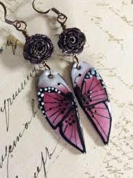 butterfly kisses enameled copper earrings stunning assemble