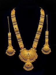 golden jewellery necklace images Indian gold jewellery necklace designs 3 new designs in gold jpg