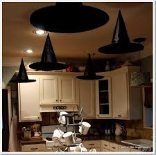 How To Decorate Your Cubicle For Halloween Floating Witchs U0027 Hats For Halloween Party Great Kitchen Halloween