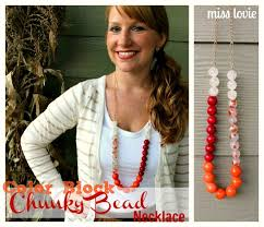 color bead necklace images Color block chunky bead necklace tutorial jpg