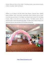 party rentals broward four j party rentals offers venues for children birthday party in bro