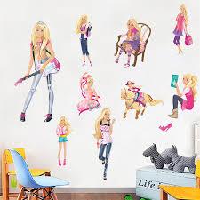 Custom Nursery Wall Decals by Barbie Head Silhouette Wall Decal Barbie Doll Silhouette With