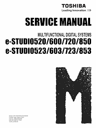 toshiba e studio 520 523 600 623 720 723 850 853 service manual