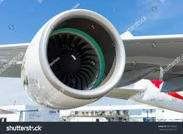 rolls royce jet engine berlin germany may 21 2014 turbofan stock photo 196158302