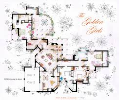 Big Houses Floor Plans The Golden Girls House Floorplan V 2 By Nikneuk On Deviantart