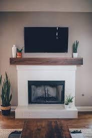 Fancy Fireplace by Modern White Brick Fireplace U0026 Walnut Mantel Diy U2013 The Southern Trunk