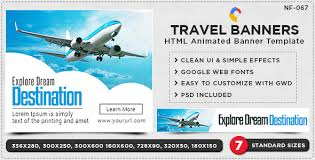 html5 travel banners gwd 7 sizes by doto codecanyon