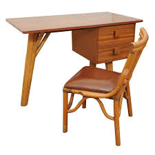 Rattan Computer Desk Vintage Rattan Desk And Chair At 1stdibs