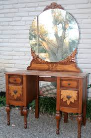 Antique Vanity Table With Mirror And Bench Table Endearing Antique Vanity Dressing Table Lamps