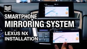 lexus nx phone app 2013 2017 lexus nx smartphone mirroring system with samsung s8