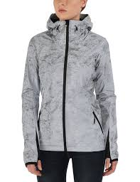 bench women u0027s reflection jacket silver reflective size 8