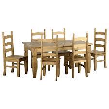 corona extending dining set 6 chairs