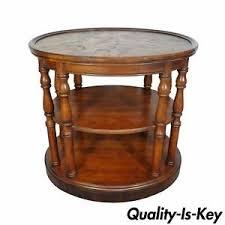 antique table ls ebay vintage brittany drexel heritage patchwork nogal madera de olivo