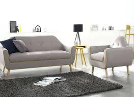 canapes et fauteuils canape et fauteuil salon complet gris foncac copenhague salon