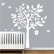 Tree Wall Decal For Nursery Grey Tree Wall Decal Boys Grey Yellow Owl Wall Decals Nursery Wall