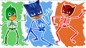 skeleton coloring pj masks halloween skeleton coloring pages for kids fun
