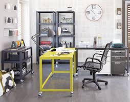 Office Desk With Wheels Practical And Versatile Go Cart Chartreuse Desk