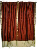 Sari Curtain Silk Sari Curtains Drapes Panels Ebay
