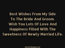 newly married quotes best wishes from my side marriage quotes 2 image