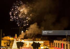 christmas tree welcomes visitors in bethlehem photos and images