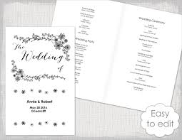 Easy Wedding Program Template 17 Wedding Program Template Free U0026 Premium Templates
