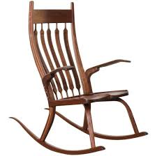 Cheap Outdoor Rocking Chairs Furniture Old Age Varnished Wooden Rocking Armless Chair With