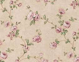 Shabby Chic Purple by Dollhouse Miniature Shabby Chic Wallpaper Pink And Green