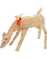 Reindeer Decoration Bargains On Pre Lit Crystal Sisal Reindeer And Sleigh Statue