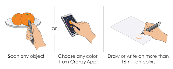 cronzy pen can write in over 16 million colors