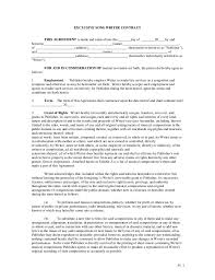 performance agreement contract template best resumes curiculum