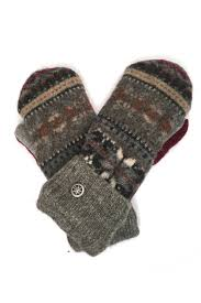sweater mittens upcycled sweater mittens workshop studio boutique flock boutique