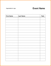 template sign in sheet template
