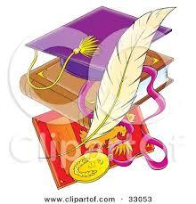 purple graduation cap clipart illustration of a purple graduation cap on a book a