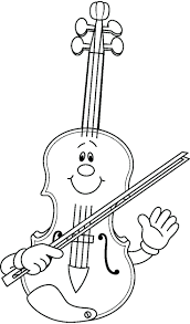 music note coloring pages print violin free printable pictures