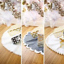 tree skirts 3 easy no sew tree skirts a beautiful mess