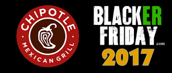 chipotle black friday 2017 deals store hours black friday 2017