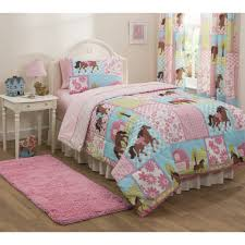 Girls Horse Themed Bedding by Mainstays Kids Country Meadows Bed In A Bag Bedding Set Walmart Com