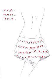 how to design ruffles on a dress bellatory